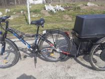 Bicicleta Vellors cu remorca electrica