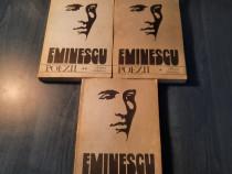 Eminescu Poezii 3 volume editie critica E. Murarasu