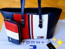 Set Tommy Hilfiger new model logo metalic auriu