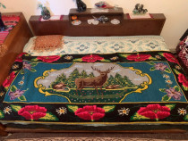 Carpeta lana tesuta manual