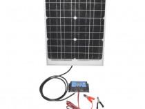 Panou solar 20W fotovoltaic monocristalin 450x340x20mm