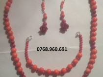 Set coral natural bicolor