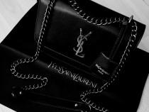 Geantă Ysl new model/France,accesorii argintii