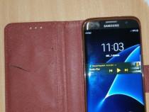 Samsung S7 Edge Gold 32 capac spate crapat husa flip cover