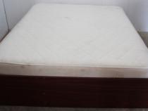 Cadru de pat dublu; Pat de mijloc cu Somiera si Saltea 200x1