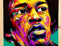 Tablou abstract Jimi Hendrix