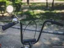 Oglinda otel rotunda Pegas - 75 mm argintiu ghidon bicicleta
