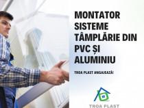 Montator sisteme tâmplărie PVC și aluminiu