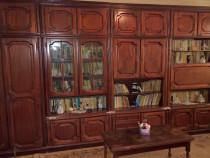 Biblioteca hol sufragerie stejar lemn masiv