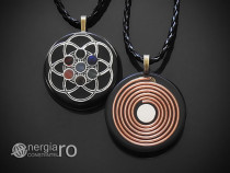 Pandantiv Orgonic Magnetic Sămânța Vieții 7 Chakre - ORG140
