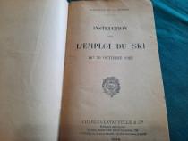 Instruction sur l'emploi du ski/ 30 octobre 1922/ text limba