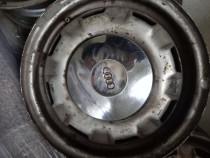 "Jante tabla 13"" originale Audi B2 cu capace chromate"