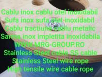 Cablu inox otel otel zincat cablu sarma impletita sufa inox