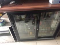 Masă frigorifică baruri pentru băuturi cu 2 uşi