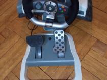 Volan (wireless) de curse + pedale pentru XBOX 360