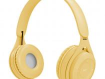 Casti wireless MYO8, Handsfree, Cu bluetooth, Galben C578