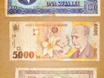 C721-Lot 3 buc. Bancnote Romania moderna. Pret pe lot.