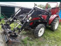 Tractor încărcător frontal, plug, freza, cositoare