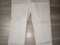 Pantaloni Lucru Albi Salopeta