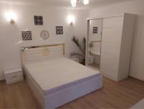 Set dormitor Victoria Alb cu pat 160x200cm tranport gratuit!