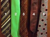 Cravate bărbătești, diverse culori, materiale și modele