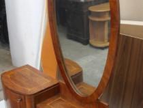 Toaleta vintage cu Oglinda stil Biedermeier; Comoda