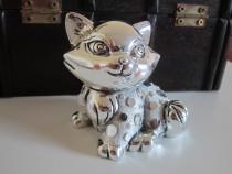 Pisica de colectie, placata argint -Moda Argenti-Italy-cadou