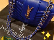 Geanta Ysl new model, logo metalic auriu, saculet