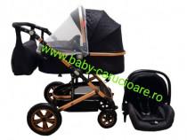 Cărucior nou născut 3in1+geantă Baby Care 530 Black Design