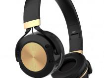 Casti wireless MRG M624, On Ear, Cu bluetooth, Negru C624