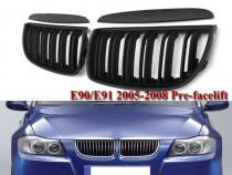 Set grile capota BMW seria 3 E90 E91 NFL (05-08) grila negru