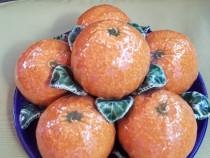 RD180 Fructiera decorativa cu portocale din portelan