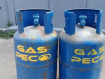 Doua butelii albastre 11kg GAZ PECO pline sigilate PETR
