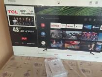 Televizor LED Smart Android TCL 43P615, 4K Ultra HD 109cm