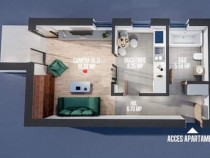 Apartament 2 camere open-space bloc nou în Moara de Vân...