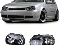 Faruri sport tuning VW Golf 4 look negru NOU