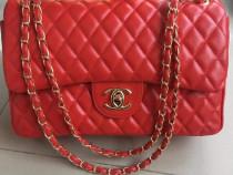 Geanta Chanel piele eco logo auriu