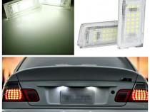 Set 2 lampi numar led 6k alb-rece BMW E46 sedan coupe tourin