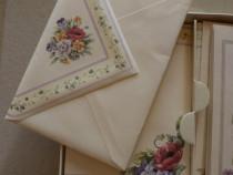Set vintage WALDORF Charlotte de felicitări, plicuri și coli