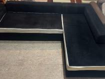 Coltar extensibil 2,80 m cu Lada; Pat cu Saltea 240x150 cm