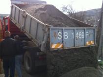 Transport nisip sort moloz lemne