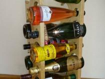 Suport din lemn pentru 12 sticle