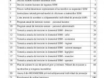 Documentatii SSM (protectia muncii)