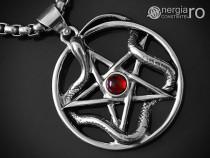 Pandantiv Amuleta Pentagrama Sarpe Incolacit - cod PND031