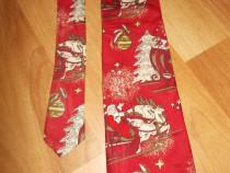 Cravata C&A-Mos Craciun cu sania