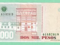 Columbia 2000 pesos - iulie 2010; august 2011 - unc - necirc