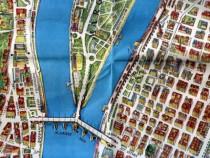 Budapesta, harta cu reprezentarea grafică a clădirilor