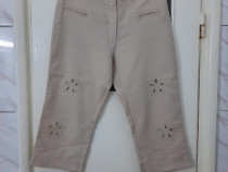 Pantaloni dama crem trei sferturi 3/4 marimea M - Noi