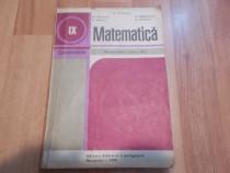 Matematica, manual pt cl a IX a
