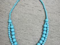 Colier / Lant margele bleu - Nou